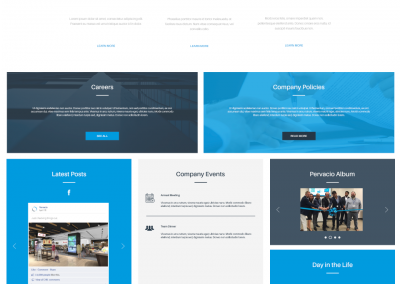 Intranet template